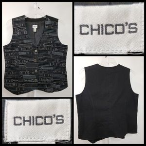 Chico's woman Sleeveless Embroidered vest size 2